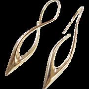 Vintage 14k Gold Long Earrings