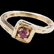 Vintage 14k Gold Childs Ruby Ring