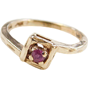 Vintage 14k Gold Childs Ruby Ring