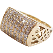 Vintage 14k Gold .64 ctw Diamond Ring