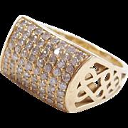 Vintage 14k Gold .64 ctw Diamond Ring
