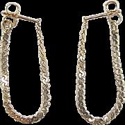 Vintage 14k Gold Flexible Serpentine Hoop Earrings
