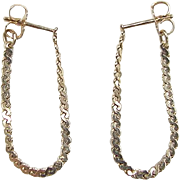 Vintage 14k Gold Flexible Serpentine Hoop Earrings