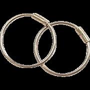 Vintage 14k Gold Small Sleeper Hoop Earrings