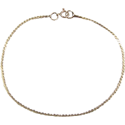"""Vintage 14k Gold Serpentine Bracelet ~ 7 3/8"""""""