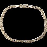 """Vintage 14k Gold Figaro Link Bracelet ~ 7"""""""