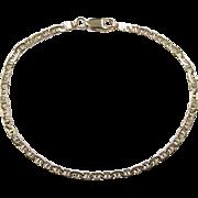 """Vintage 14k Gold Flat Marine Anchor Link Bracelet ~ 7"""""""