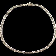"""Vintage 14k Gold Flat Marine Anchor Link Anklet ~ 10"""""""