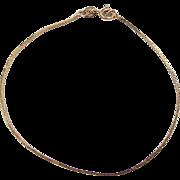 """Vintage 14k Gold Smooth Box Bracelet ~ 7"""""""