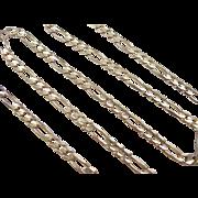 "Vintage 14k Gold Figaro Link Chain ~ 21"" ~ 16.5 Grams"