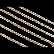 "Vintage 14k Gold Long Flat Marine Anchor Link Chain ~ 24"" ~ 4.3 Grams"