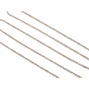 """Vintage 14k Gold Thin Curb Link Chain ~ 18"""" ~ 1.7 Grams"""
