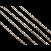 "Vintage 14k Gold Diamond Cut Rope Chain ~ 16"" ~ 3.7 Grams"