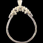 Vintage 14k Gold Heart Charm Holder Pendant