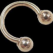 Vintage 14k Gold Septum Nose Piercing / Helix Ear Ring
