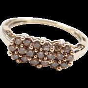 Vintage 10k Gold .48 ctw Chocolate Diamond Cluster Ring
