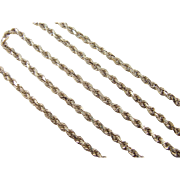 "Vintage 14k Gold Diamond Cut Rope Chain ~ 18 1/2"" ~ 12.6 Grams"