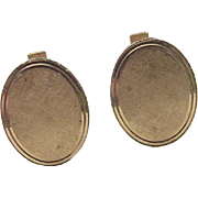 Vintage 14k Gold Gents Cuff Links
