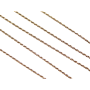 "Vintage 14k Gold Thin Diamond Cut Rope Chain ~ 18"" ~ 2.9 Grams"