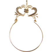Vintage 14k Gold Heart Charm Holder Pendant