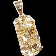 Vintage 14k Gold Nugget Pendant