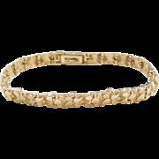 """Vintage 14k Gold Nugget Bracelet ~ 7 1/4"""" - 7 3/8"""""""