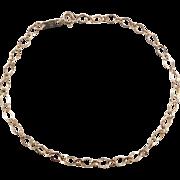 """Vintage 10k Gold Link Bracelet ~ 7 1/2"""""""