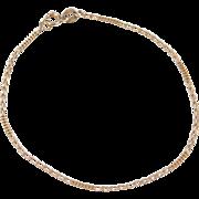 """Vintage 10k Gold Curb Link Bracelet ~ 7"""""""