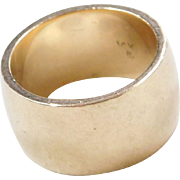 Vintage 14k Gold WIDE Band Ring
