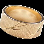 Vintage 14k Gold Diamond Cut Band Ring