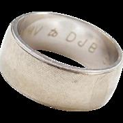 Vintage 14k White Gold Band Ring