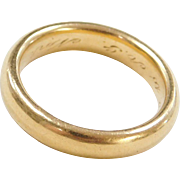 Vintage 22k Baht Gold Men's Wedding Band Ring Circa 1916