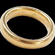 Vintage 22k Baht Gold Men's Wedding Band Ring Circa 1916