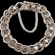 """Vintage 14k Gold Heart Bracelet ~ 8"""""""