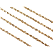 "Vintage 14k Gold Diamond Cut Rope Chain ~ 19"" ~7.9 Grams"