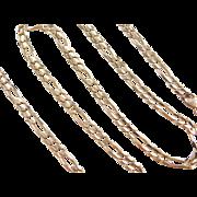 "Vintage 14k Gold Figaro Link Chain ~ 16 1/2"" ~ 10.1 grams"
