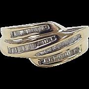 Vintage 14k Gold .40 ctw Diamond Ring