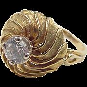 Vintage 20k Gold Faux Diamond Ring