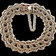 """Vintage 14k Gold Link Bracelet 8"""""""