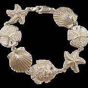 """Vintage 14k Gold Big Nautical Bracelet ~ 7 1/2"""""""