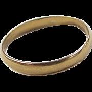 Vintage 22k Gold Band Ring