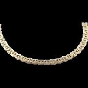 """Vintage 14k Gold Flat Marine Anchor Link Bracelet 6 3/4"""""""
