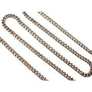 "Vintage 14k Gold Curb Link Chain ~ 20"" ~ 29.3 Grams"