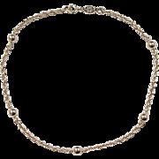 """Vintage 14k Gold Rope and Bead Bracelet ~ 8"""""""