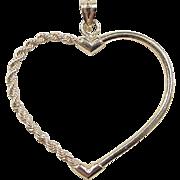 Vintage 10k Gold Heart Pendant