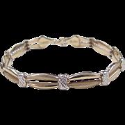 """Vintage 10k Gold Two-Tone Bracelet ~ 7 1/4"""""""