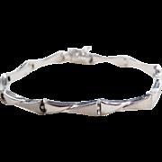 """Vine 14k White Gold Bracelet ~ 7 1/8"""""""