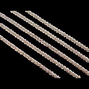 "Vintage 18k Gold Rolo Link Chain ~ 22 1/2"" ~ 5.7 Grams"