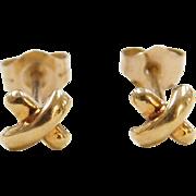 Vintage 18k Gold Small Stud Earrings