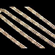 "Vintage 14k Gold Figaro Link Chain ~ 18"" ~ 5.4 Grams"